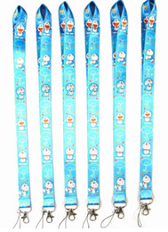$enCountryForm.capitalKeyWord Canada - Free Shipping 200pcs Doraemon key lanyards Id badge holder keychain straps for mobile phone #719