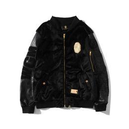 Wholesale leather sleeve cardigan resale online – Autumn Winter New Teenager Plush PU Leather Sleeve Thick Jacket Men s Zipper Cardigan Hooded Loose Jacket