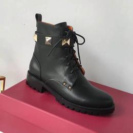 $enCountryForm.capitalKeyWord Australia - Hot Fashion T Show Martin Boots Woman Sheet metal Female Boots Ladies Genuine Leather High quality woman shoes 35-40