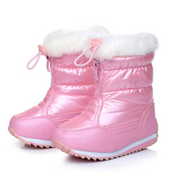 $enCountryForm.capitalKeyWord Australia - Candy Color Girls Snow Boots Waterproof Winter Children Boots Plush Lining Warm Shoes For Girl Skidproof Y18110304