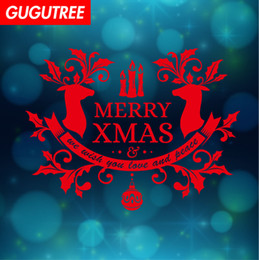 sports christmas decorations NZ - Decorate Home merry christmas new year art wall sticker decoration Decals mural painting Removable Decor Wallpaper G-1162
