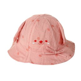 2f8d915931a7 Baby Hat Girls Boys Bucket Hat Kids Outdoor Fisherman Cap Dog Ear Plaid  Cotton Beach Cap Spring Summer Sun Protective Cap MZ7193