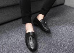 $enCountryForm.capitalKeyWord Australia - Fashion Men's Weaving Dress Shoes Genuine Leather Solid Lace Up Rumba Waltz Prom Ballroom Latin Salsa Dance Shoes Pointed Toe Formal Hot