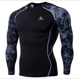 $enCountryForm.capitalKeyWord Australia - Men Mma Compression Shirts Rashguard Fitness Long Sleeves Base Layer Skin Tight Weight Lifting Men T Shirts