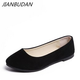 JIANBUDAN Women flat heels spring summer 2018 new casual flat shoes solid  everyday shoes Ballet size 35-43  9214 6cbaf16c23e2