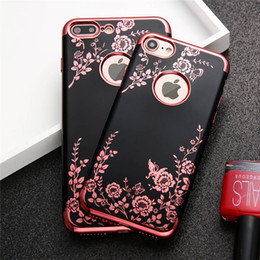 rubber flowers NZ - Luxury Electroplating Flowers Case For iPhone 8 Plus Soft TPU Floral Butterfly Rubber Back Covers for iPhone8