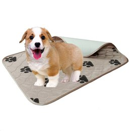 animal floor mats Australia - 40*60cm Polyester Pet Absorbent Padding Waterproof Reusable Dog Pee Pad Washable Puppy Training Pad Pet Training Floor Mats