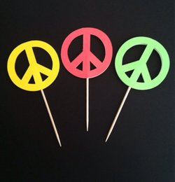 $enCountryForm.capitalKeyWord Australia - Peace Signs cupcake toppers, bridal shower wedding engagement Food Picks wedding birthday toothpicks decorations Party Supplies Event
