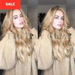 $enCountryForm.capitalKeyWord Australia - Summer Style Hair Wig 22 inch Blonde Wigs For Black Women Like Human Hair Wigs Long Curly Wig fashion deep Wave Charming Style