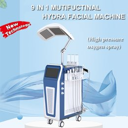 Discount oxygen facial treatments - Hydrafacial High jet peel oxygen jet peel Spray machine Hydro Dermabrasion 9 IN 1 Hydra Facial Machine PDT LED Light The