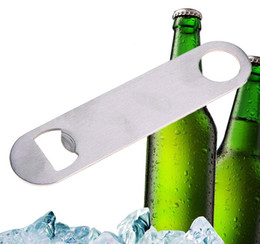 metal Bottle Cap Opener Unique Flat Stainless Steel Remover Bar Blade opener on Sale