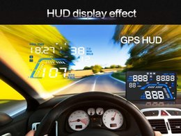 hud display auto Australia - 5 .5 Car Gps Hud Head Up Display With Real Time Vehicle Speed Altitude Driving Direction Overspeed Alarm Auto Power On  Off Function