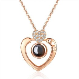 $enCountryForm.capitalKeyWord Australia - Women'S 925 Sterling Silver Rose Gold Pendant With 100 Languages I Love You Inlay Heart-Shaped Diamond Party Jewelry 0817ayq
