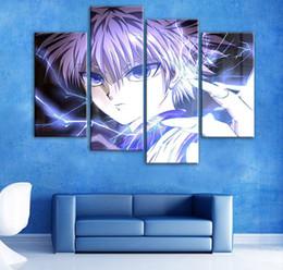 Unframed Art Prints Australia - 4pcs set Unframed Hunter Kirua Cool Flash Poster Print On Canvas Wall Art Picture For Home and Living Room Decor