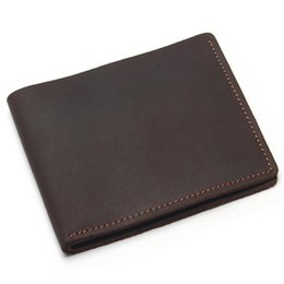 $enCountryForm.capitalKeyWord Australia - good quality Crazy Horse Leather Mens Card&id Holders Cross Style Genuine Leather Wallet New Put Cards Porte Carte