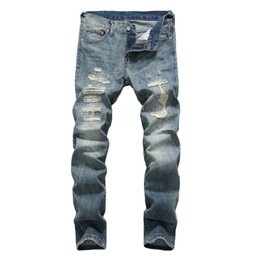 dsel jeans NZ - High Quality Spring Summer Fashion Men's Jeans Japanese Style Vintage Design Ripped Jeans Stretch Pants DSEL Classical Men #345593