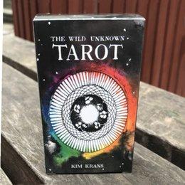 Tarot anglais sauvage cartes de tarot divers modèles personnalisés cartes à jouer sans bordure