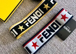 mens hair headbands UK - designer mens headband women headbands luxury headbands Head Scarf double f letter Star style hair bands with tag A23