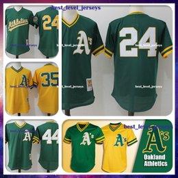 31bcdc8421e 24 Ken Griffey Jr 35 Rickey Henderson Jersey 44 Reggie Jackson Jersey  Oakland jerseys Athletics Majestic Coolbase Jersey