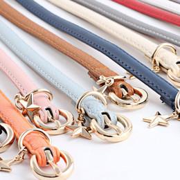 Star Belts Australia - Needle Buckle Leather Belt For Women Narrow Girdle Pants Decor Waist Band Leisure Five Pointed Star Pendant 12 Colours 3 9as D1