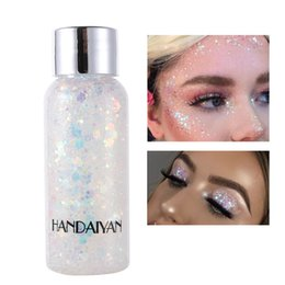 HANDAIYAN mermaid scale face body sequin body lotion glitter eye shadow colorful polarized stage makeup 3pcs on Sale