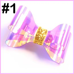 $enCountryForm.capitalKeyWord Australia - free shipping 5pcs Waterproof Jelly Bows pool Hair Bows for Girls with Clips Glitter Knot Pool Swim Bows Solid Hairpins Fashion Kids Headwe