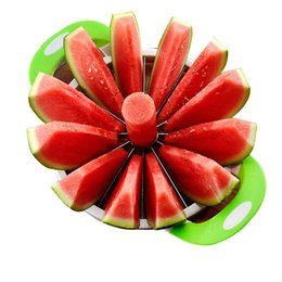 $enCountryForm.capitalKeyWord Australia - Transhome Watermelon Slicer Cutter Stainless Steel Large Size Sliced Watermelon Cantaloupe Slicer Fruit Divider Kitchen Gadgets