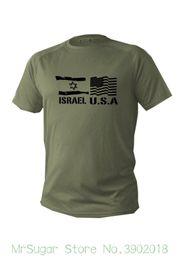 Опт Футболка мужская Dry Fit с коротким рукавом зеленый оливковый Израиль флаги США военная армия новый O-образным вырезом футболка Harajuku топы тройники