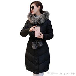 $enCountryForm.capitalKeyWord Australia - Nice Down Parka Winter Jacket Women Cotton Padded Thick Ultra Light Long Coat Faux Fur Collar Hooded Female Jackets For Woman