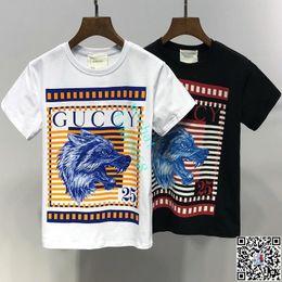 Ropa de diseñador para niños Chica Baby Boy Moda Estampado de algodón Ropa de diseñador Diseñador para hombre T-Shirt Marca de moda transpirable Lujo A-7