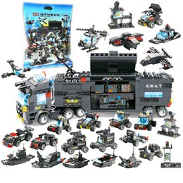 1164pcs Childrens Building Blocks Toy Compatible Legoings City Black Hawk Special Forces Special Police Mobile Command Base Low Price Model Building