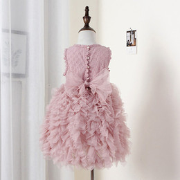 Pink Infant Tutu Australia - Summer Flower Girl Dresses Wedding Party Kids Tutu Birthday Princess Dress for Girls Infant Children Clothing Girl Baby Clothes