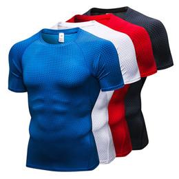 a68e612a96 Custom Rashgard T-shirt Men Sport Running T shirt Basketball Football  Jerssey Quick Drying Men Jogging T-shirt Top