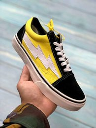 Black White Red Canvas Prints Australia - 2019 hot sale Revenge X Storm Old Skool Canvas Designer Sneakers Womens Men Low Cut Skateboard Yellow Red Blue White Black Casual Shoes