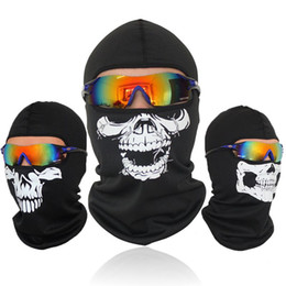 motorcycle helmet face shields Australia - Skull Motorcycle Balaclava Full Face Mask Motor Helmet Liner Hats Ski Paintball Tactical Snowboard Biker Riding Hood Shield
