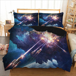 queen games Australia - space war switch game duvet cover set usa king queen double full twin single size bed linen set