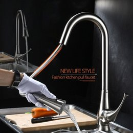 $enCountryForm.capitalKeyWord NZ - Kitchen Faucets Silver Single Handle Pull Out Kitchen Tap Single Hole Handle Swivel 360 Degree Water Mixer Tap Mixer