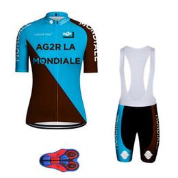 $enCountryForm.capitalKeyWord Australia - Summer AG2R 2019 team Cycling Short Sleeves jersey bib shorts sets 9D gel pad Bike Suit Mens Cycling Clothing Breathable Sportswear 054667
