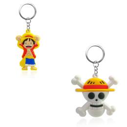 $enCountryForm.capitalKeyWord NZ - 1pc One Piece New Style PVC Keychain Key Ring Gift For Women Girls Bag Pendant PVC Figure Charms Key Chains Jewelry porte clef