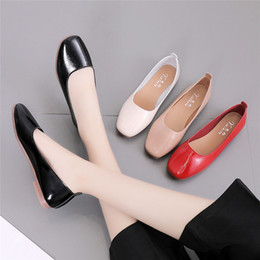 Slip Dresses For Sale Australia - Designer Dress Shoes 2019 Hot Sale Single Women Solid Color Shallow Square Toe Slip On Low Heel Single Shoe For Lady zapatos mujer S