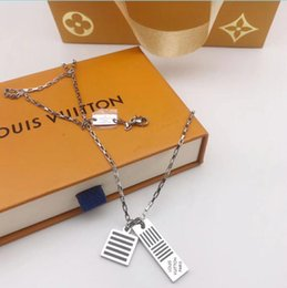 necklaces pendants Australia - Designer2019 Branded New Arrival woman Enamel Stainless Steel Double Lucky Lock Pendant Shell Letter Necklace Men Jewelry Wholesale Gift BOX