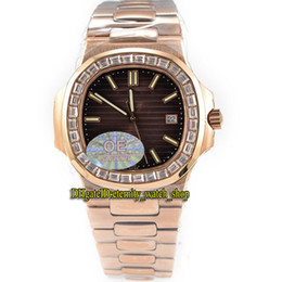 $enCountryForm.capitalKeyWord Australia - OE Best-version Sport Nautilus 40MM 5711 1R-001 Dark Brown Dial Cal.324 SC Automatic 7010 Mens Watch Diamonds Bezel Rose Gold Band Watches