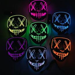 V Vendetta Cosplay UK - Halloween Mask LED Maske Light Up Party Masks Neon Maska Cosplay Mascara Horror Mascarillas Glow In Dark Masque V for Vendetta