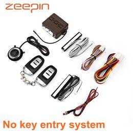 $enCountryForm.capitalKeyWord Australia - E 12V Car No Key Entry Remote Control Lock Unlock Push Button Start-up Anti-theft Devices Auto Security Burglar Alarm System