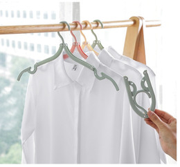 Plastic Foldable Clothes Hangers Australia - Creative Portable Travel Cloth Hanger Non-Slip Plastic Foldable Rack Drying Clothespin Trouser Coat Towel Socks Storage Closet Organizer