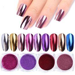 Nails Art Powder Australia - 0.5g Nail Mirror Glitter Powder Metallic Color Nail Art UV Gel Polishing Chrome Flakes Pigment Dust Decorations Manicure TRC ASX