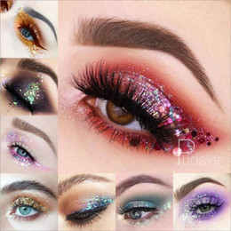 Eye Shadow Glitter Sequins Free Glue Diamond Beads Laser Sequins Eyeshadow Powder Color Matte Eye Shadow Cosmetics