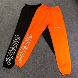 Heron Preston Sweatpants Negro Red Hip Hop Joggers Bordado Sweat pants CTNNB Skateboard Street Wear Heron Preston Sweatpants en venta