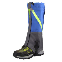 2Pcs Outdoor 2 Layers Waterproof Camping Hiking Snow Leg Gaiters For Outdoor Skate Skiing Walking Shin Leg Protect Equipment New on Sale