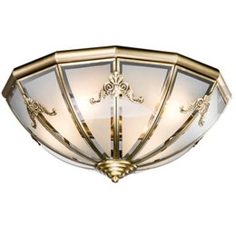 $enCountryForm.capitalKeyWord Canada - Vintage Copper Glass Living Room Ceiling Lights Luxury European Study Room Bedroom Ceiling Lamp Restaurant Dining Room Corridor Ceiling Lamp